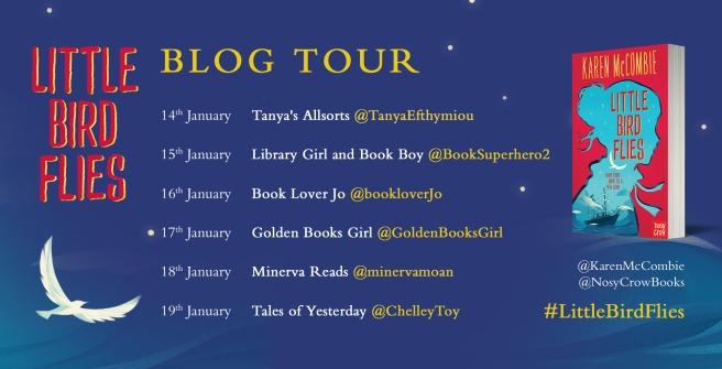 little bird flies - revised blog tour banner